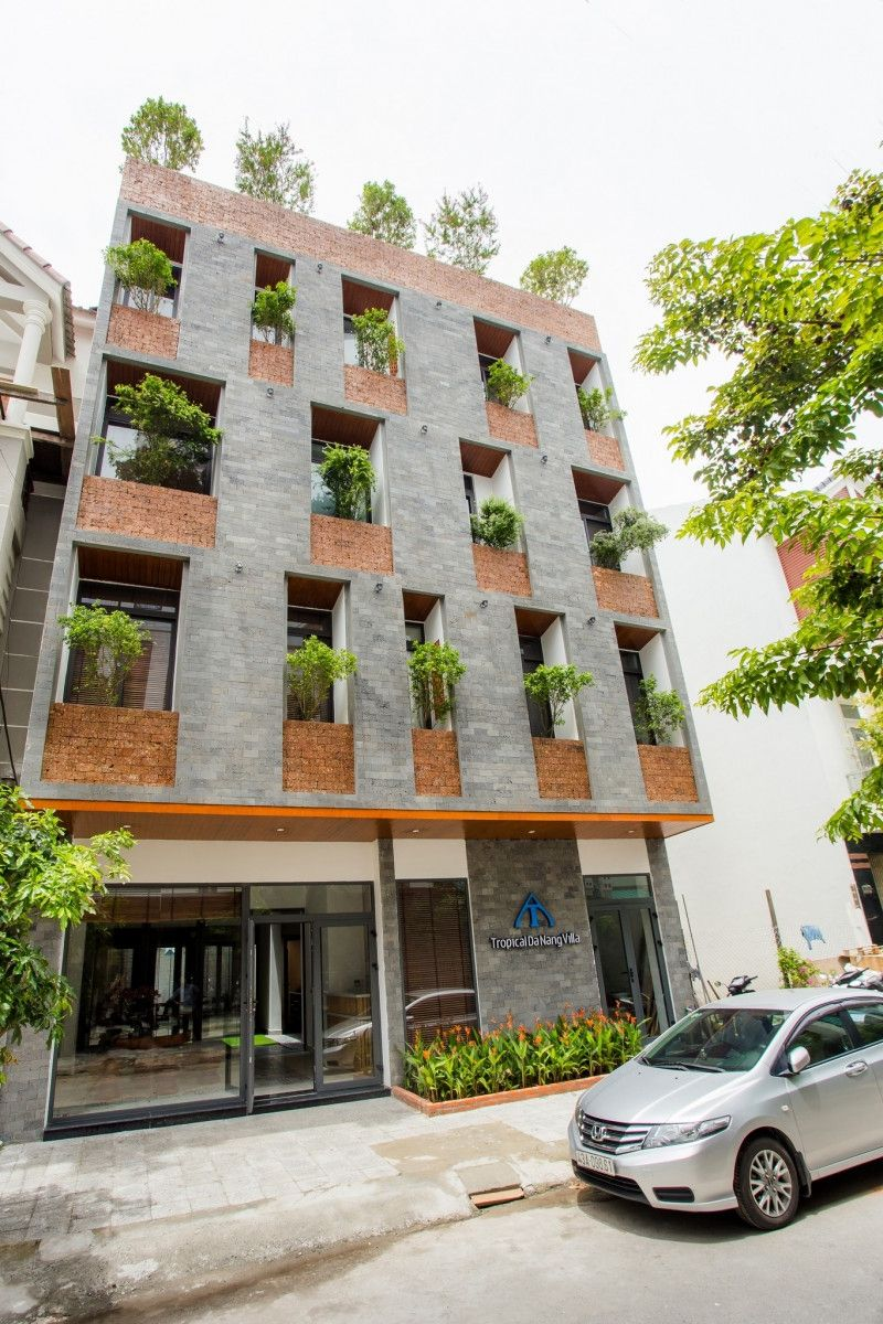 Kiến trúc xanh cho biệt thự 5 tầng
