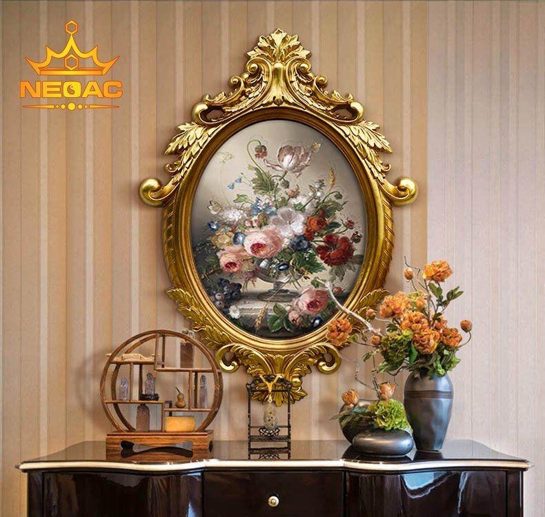 Mẫu khung gương phong cách châu Âu cho Biệt thự tân cổ, lâu đài