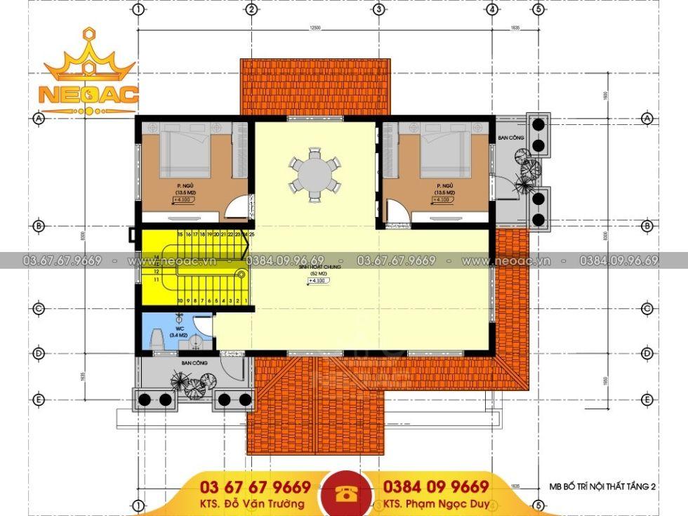 Giới thiệu mẫu biệt thự mái thái 3 tầng tách bếp lạ lùng