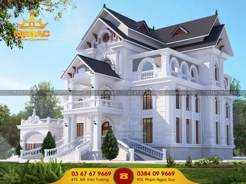 Giới thiệu biệt thự Pháp tân cổ điển kết hợp mái thái Á Đông mềm mại