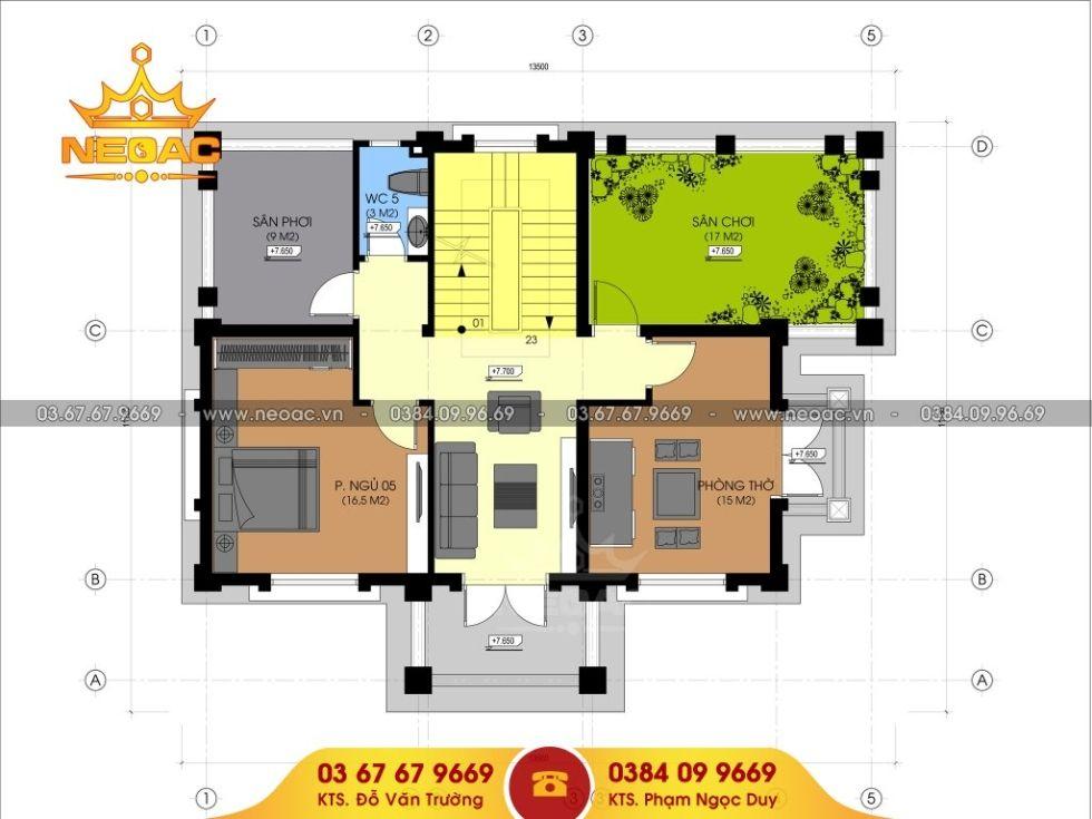 Giới thiệu mẫu biệt thự mái thái 4 tầng tân cổ điển 120m2