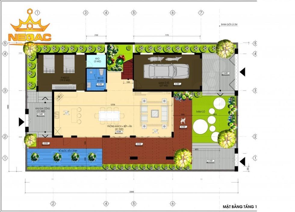 Giới thiệu mẫu biệt thự mái thái 2 tầng hiện đại 150m2