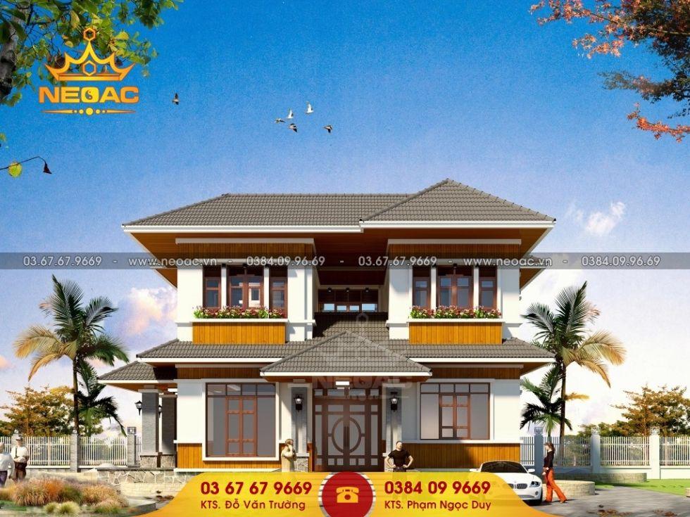 Giới thiệu mẫu biệt thự mái thái 2 tầng hiện đại 180m2