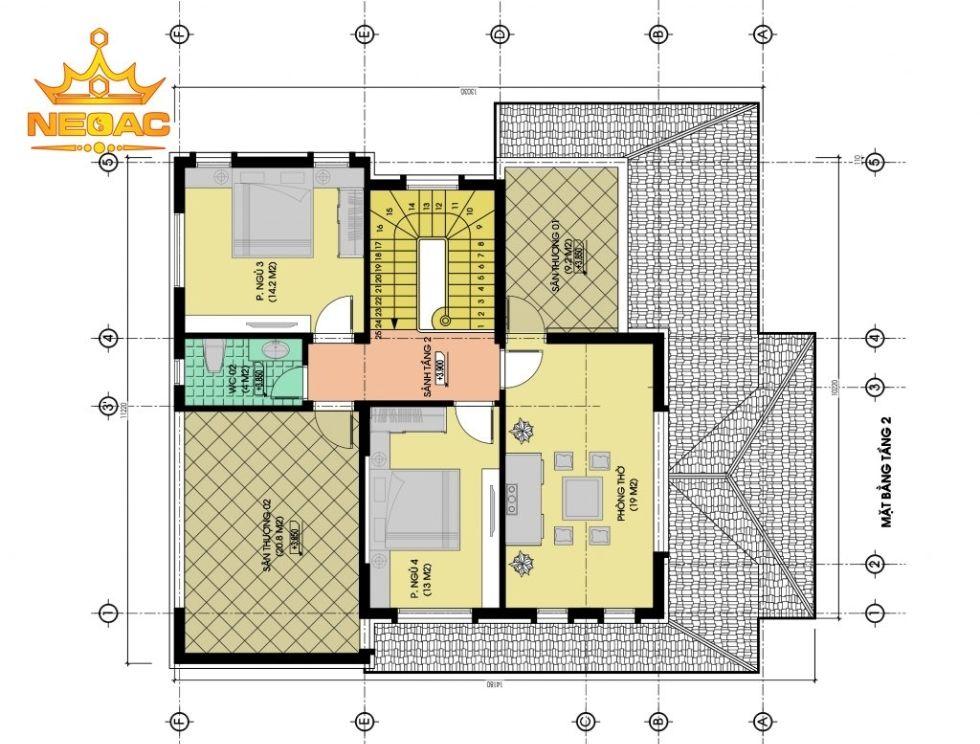 Giới thiệu mẫu biệt thự mái thái 2 tầng hiện đại 140m2