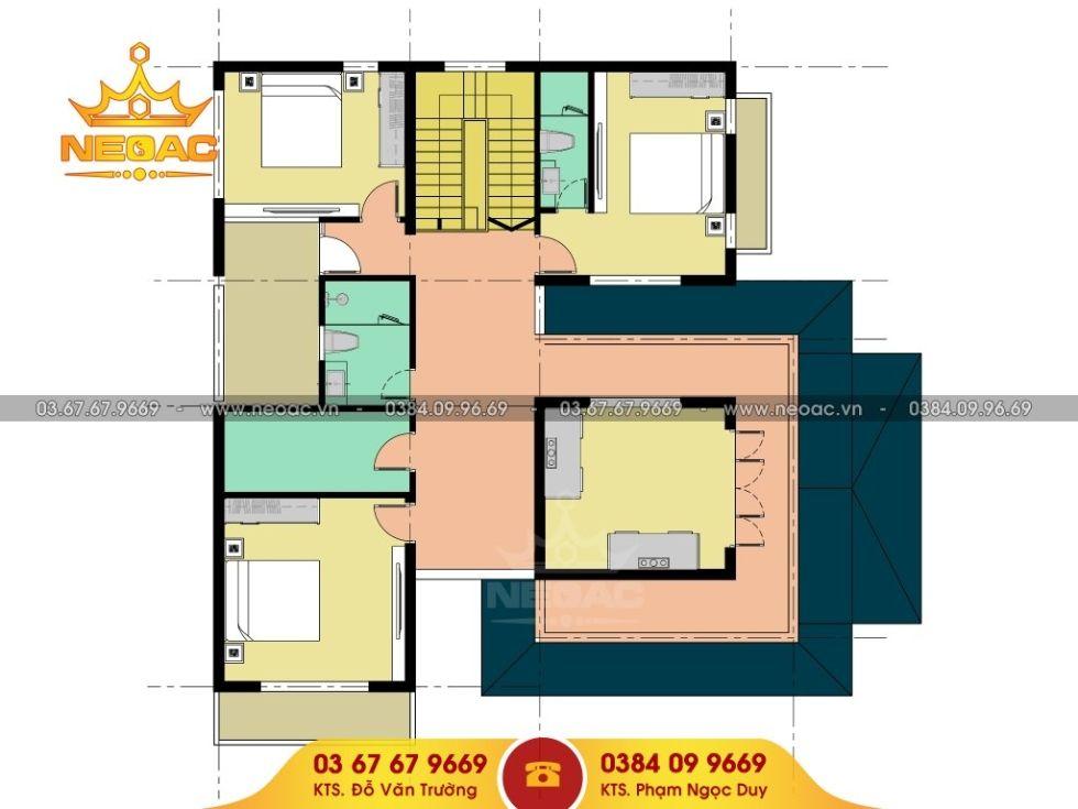 Giới thiệu mẫu biệt thự mái thái 2 tầng hiện đại 170m2