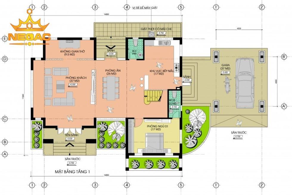 Giới thiệu mẫu biệt thự mái thái 2 tầng hiện đại 250m2
