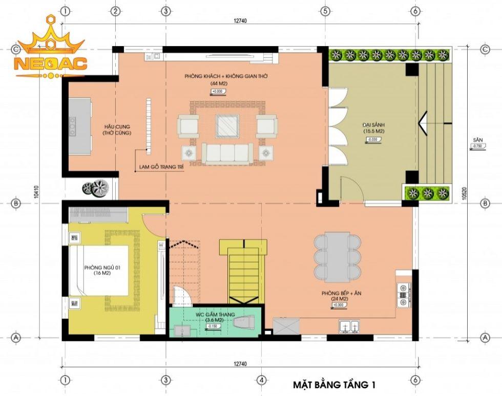 Giới thiệu mẫu biệt thự mái thái 2 tầng hiện đại 130m2