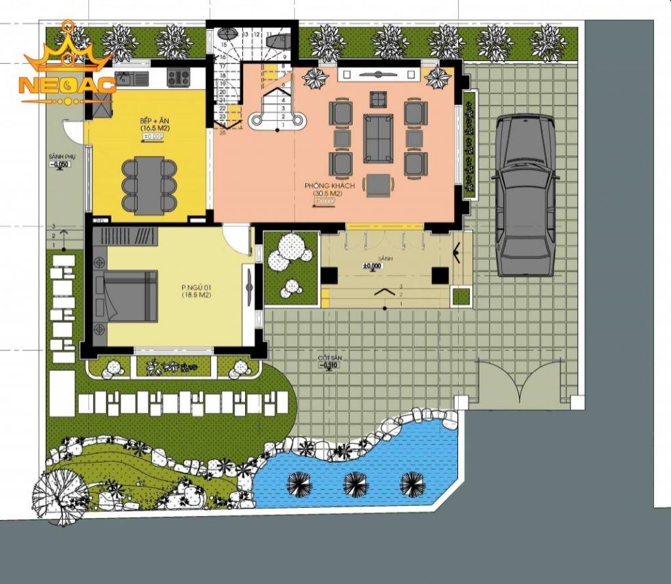 Giới thiệu mẫu biệt thự mái thái 2 tầng hiện đại 100m2