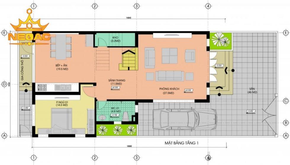 Giới thiệu mẫu biệt thự mái thái 3 tầng hiện đại 100m2