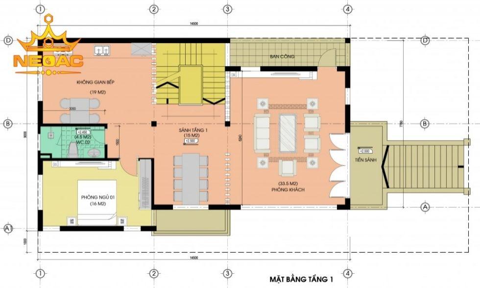Giới thiệu mẫu biệt thự mái thái 4 tầng hiện đại 120m2