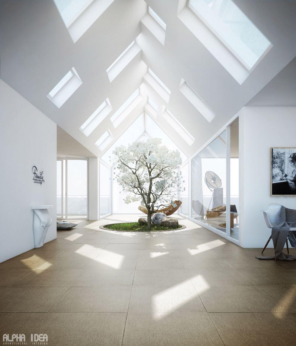 Giếng trời - lựa chọn số 1 cho nhà sâu khuất sáng