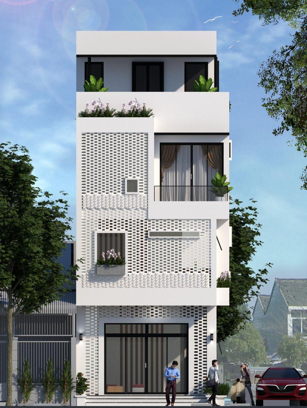 Mẫu nhà phố 4 tầng hiện đại thu hút mọi ánh nhìn