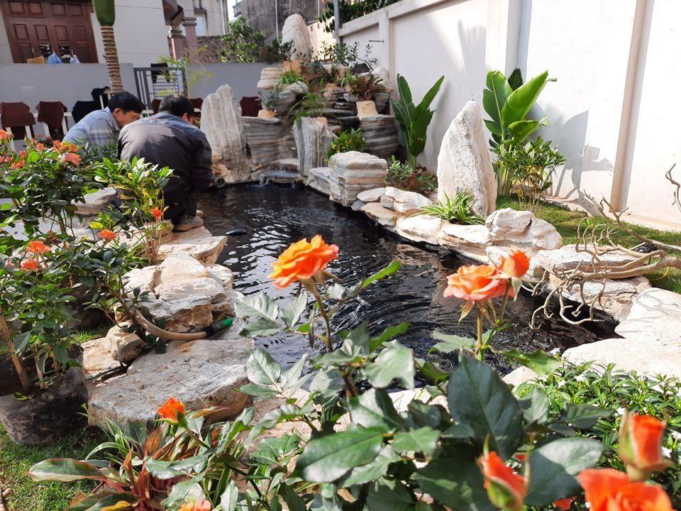 Mẫu tiểu cảnh sân vườn nhà phố hút tài lộc cho gia chủ