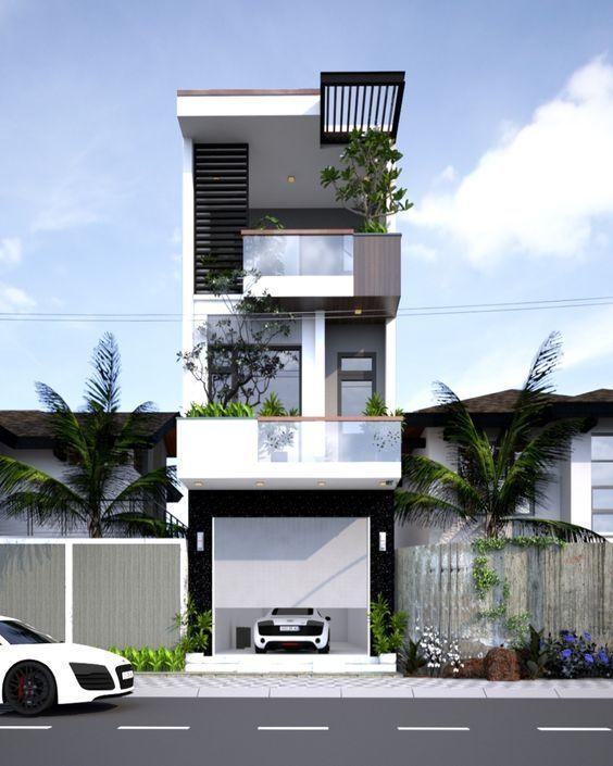 Thiết kế nhà phố 3 tầng hiện đại đẹp ngây ngất