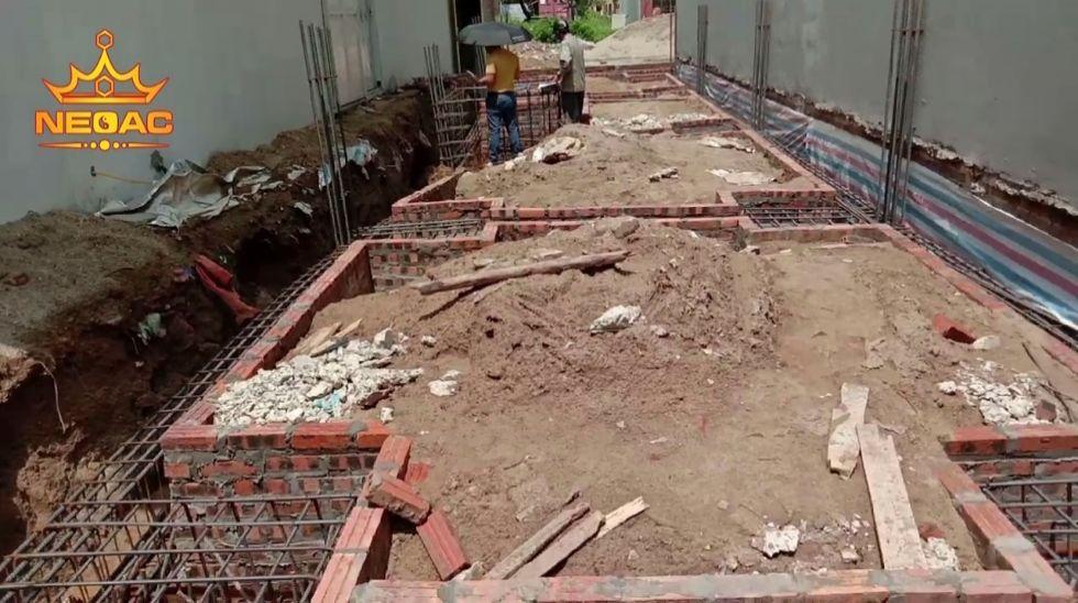 Nghiệm thu thép móng nhà phố tại phường Kinh Bắc thành phố Bắc Ninh