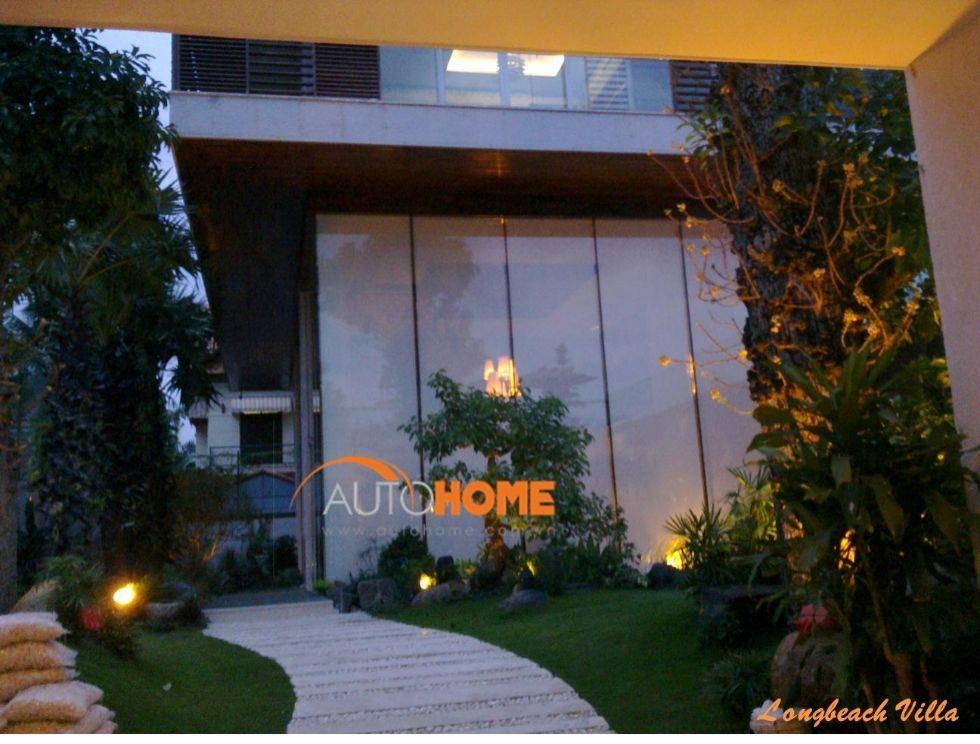 Rèm cửa tự động cho ngôi nhà hiện đại