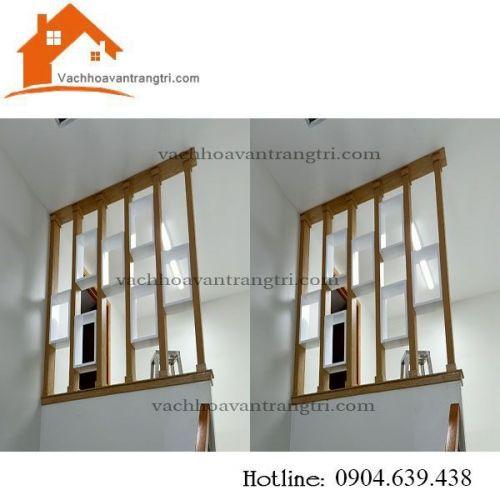 Thanh lam gỗ trang trí - vách ngăn phòng khách đẹp tại Phan Văn Hớn
